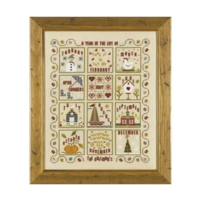 Year cross stitch kit