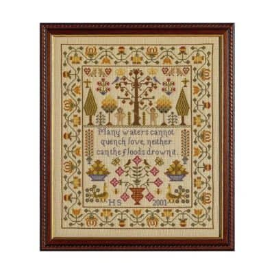 Adam & Eve cross stitch Sampler