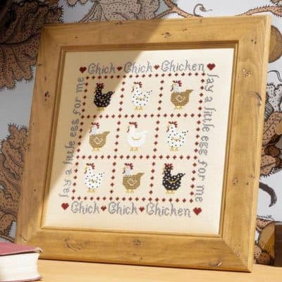 chicken counted cross stitch kit