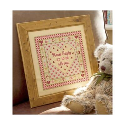 Birth cross stitch project