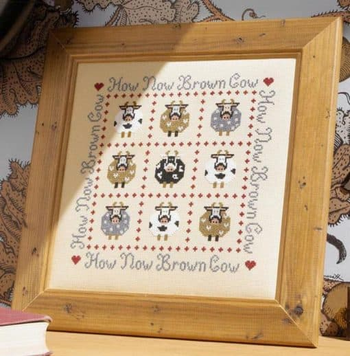 cow counted cross stitch kit