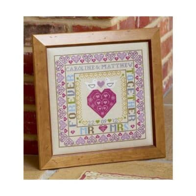 Wedding cross stitch project