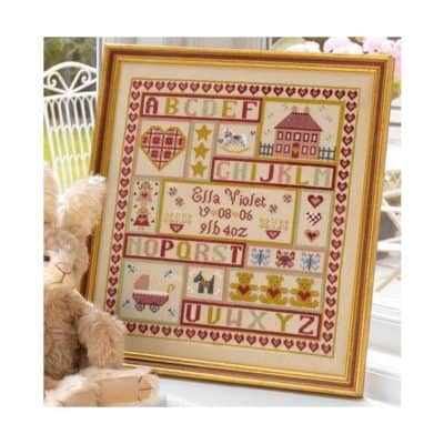 Birth cross stitch