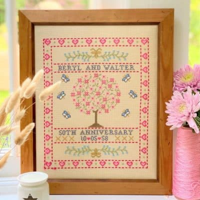 anniversary counted cross stitch kit