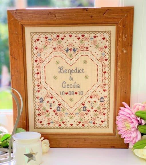 wedding counted cross stitch kit
