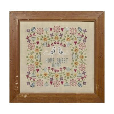 Flower Home Sweet Home cross stitch kit