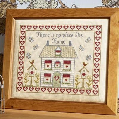 There is no place like home cross stitch gift box