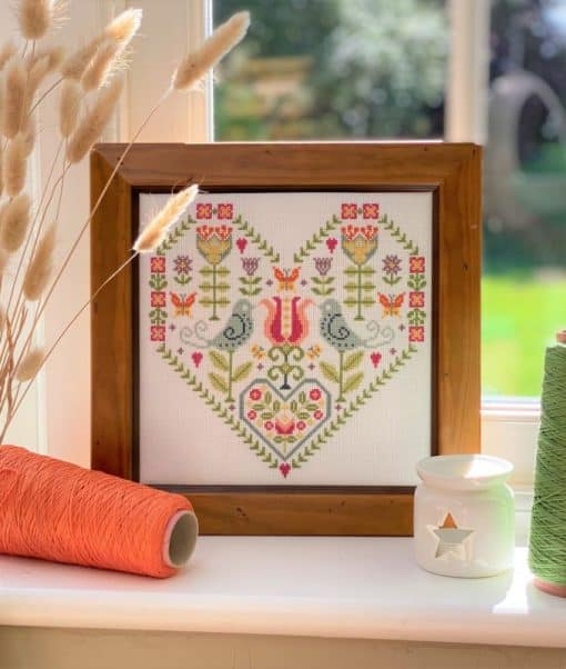 heart counted cross stitch kit