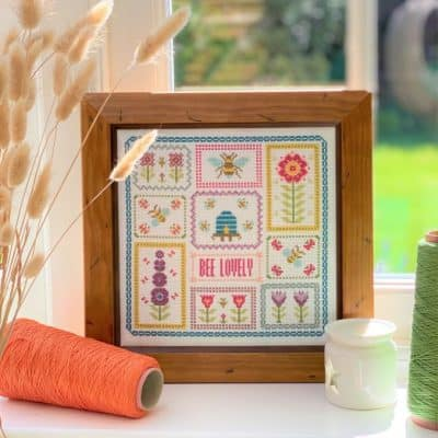 bee counted cross stitch kit