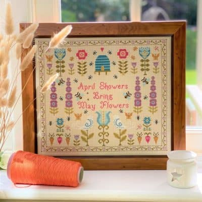 Contemporary counted cross stitch kit