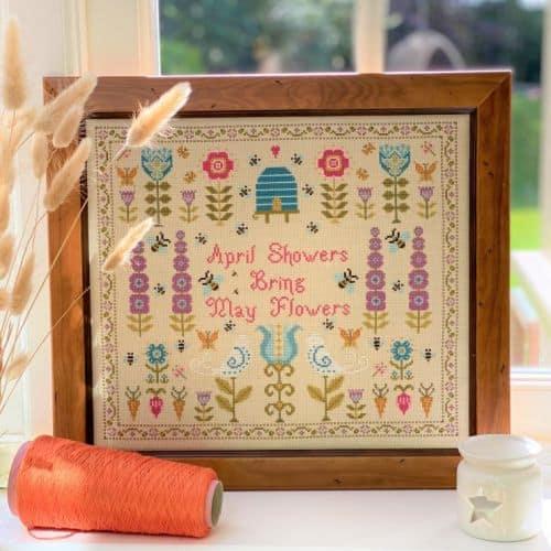 April Showers Cross Stitch